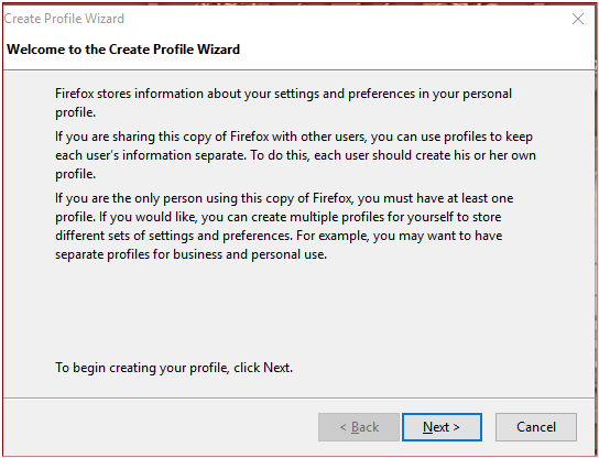 CreateProfileWizard