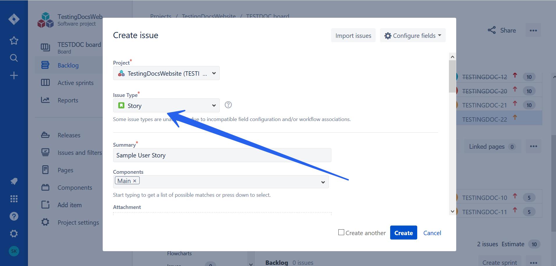 Agile User Story