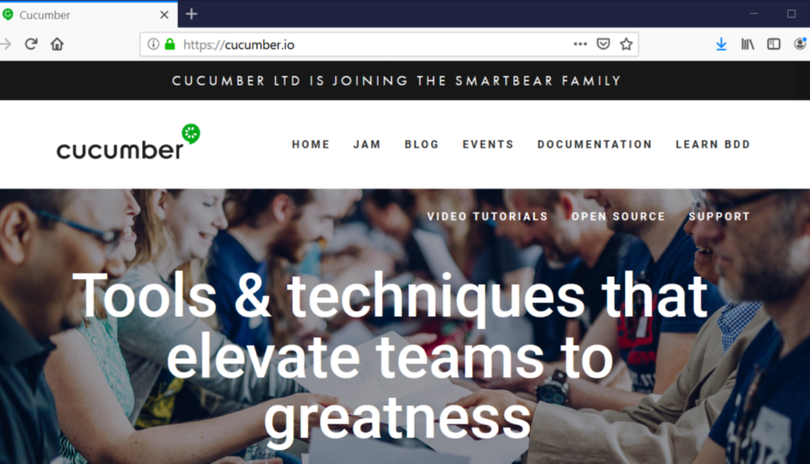 Cucumber BDD Website