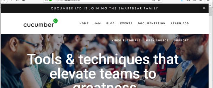 Cucumber BDD Website