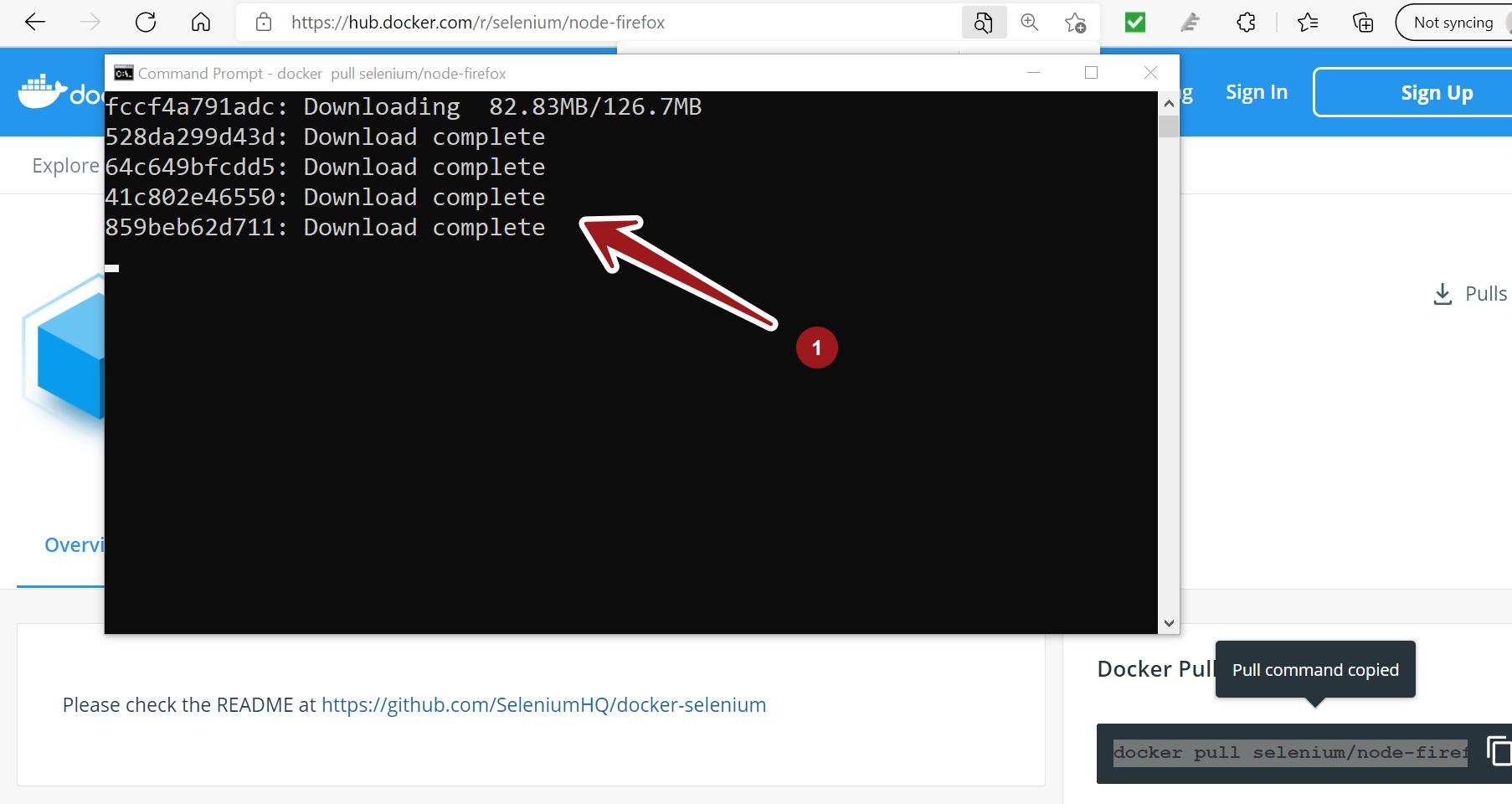 Docker pull selenium Node Firefox