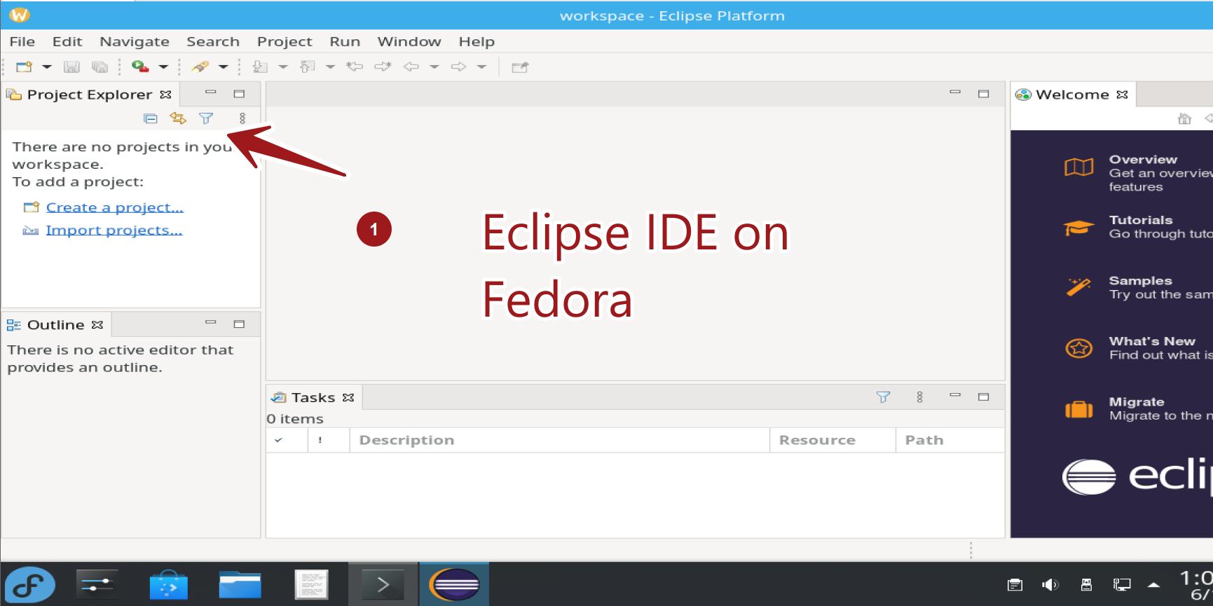 Eclipse IDE on Fedora