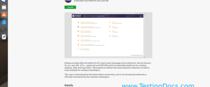 Eclipse Install Ubuntu