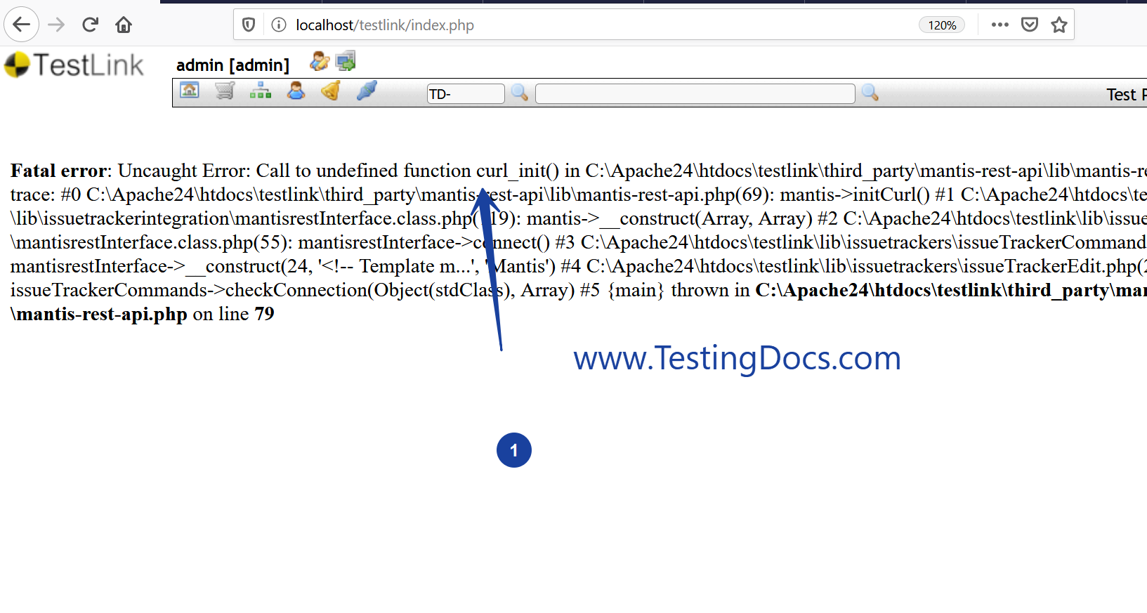 Fatal error curl_init()