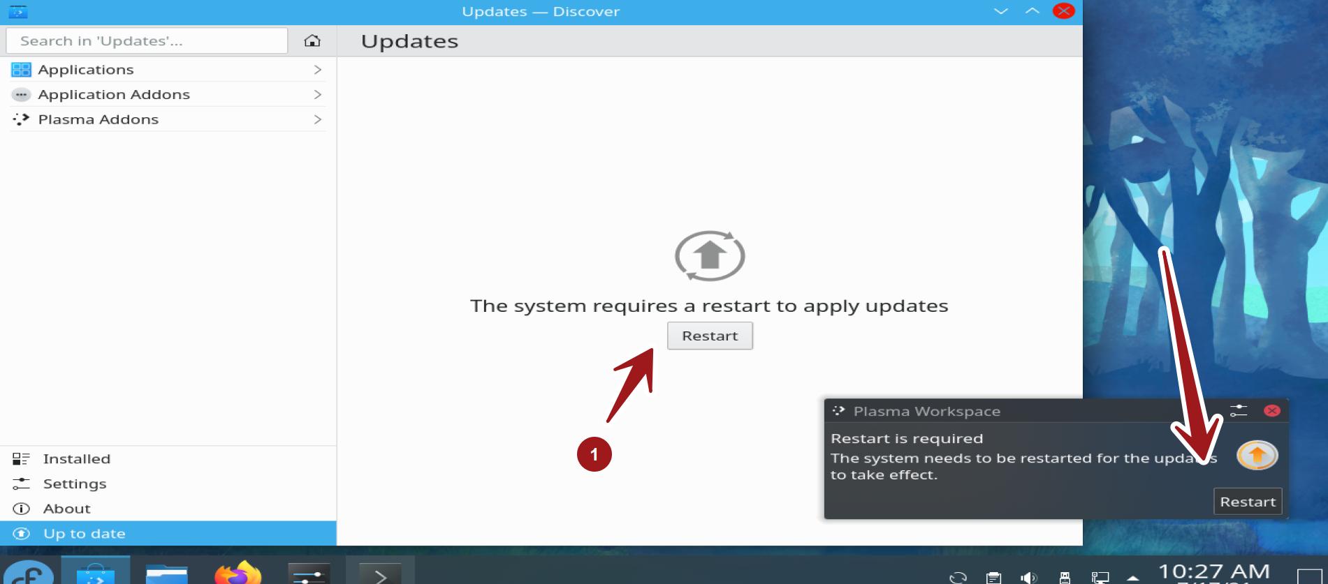 Fedora System Update Restart
