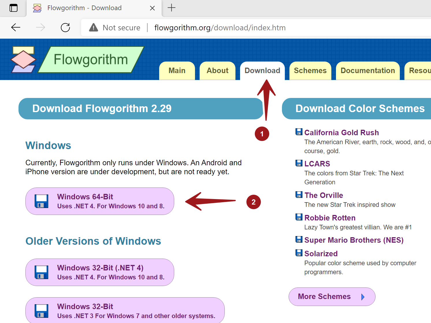 Flowgorithm Download Page