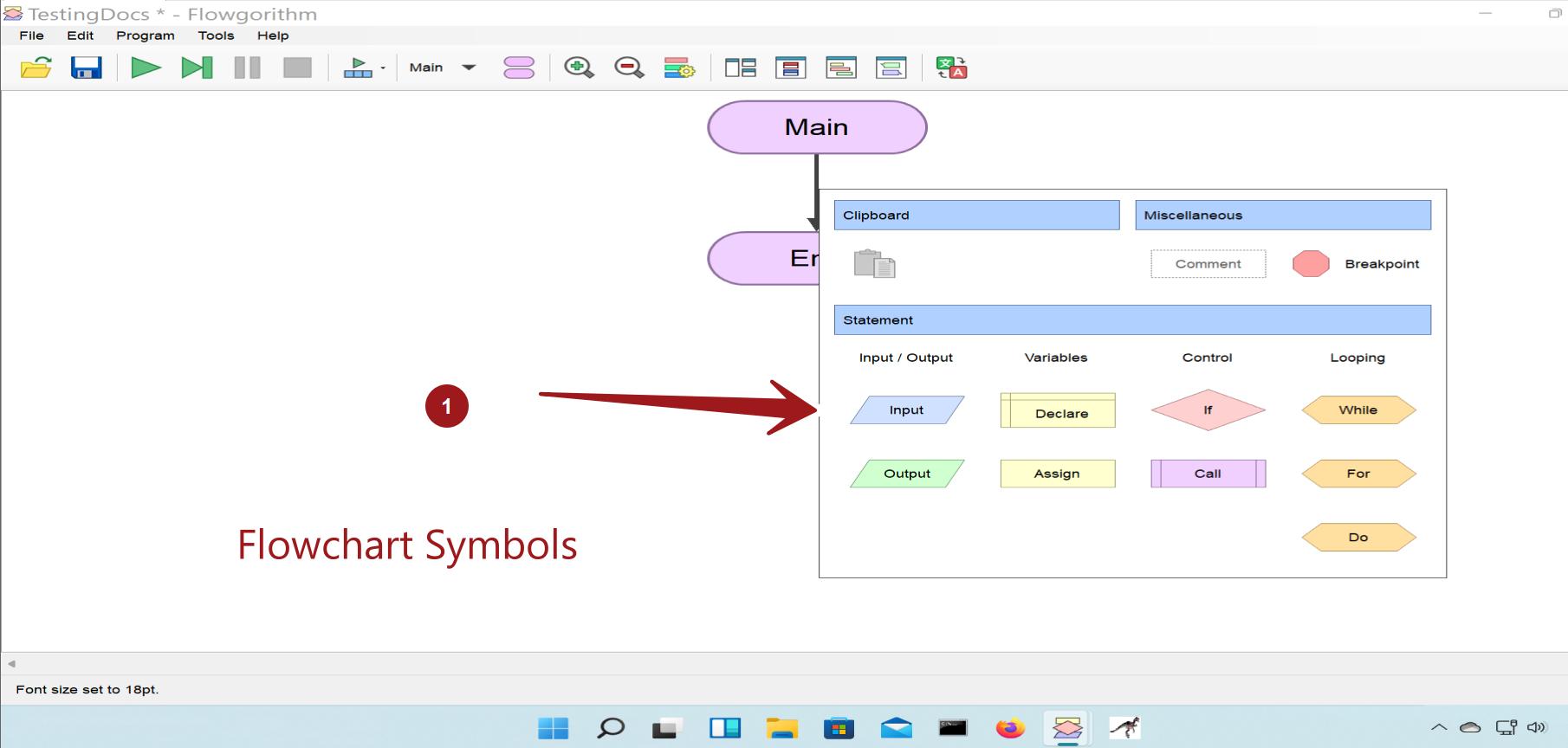 Flowgorithm Flowchart Symbols
