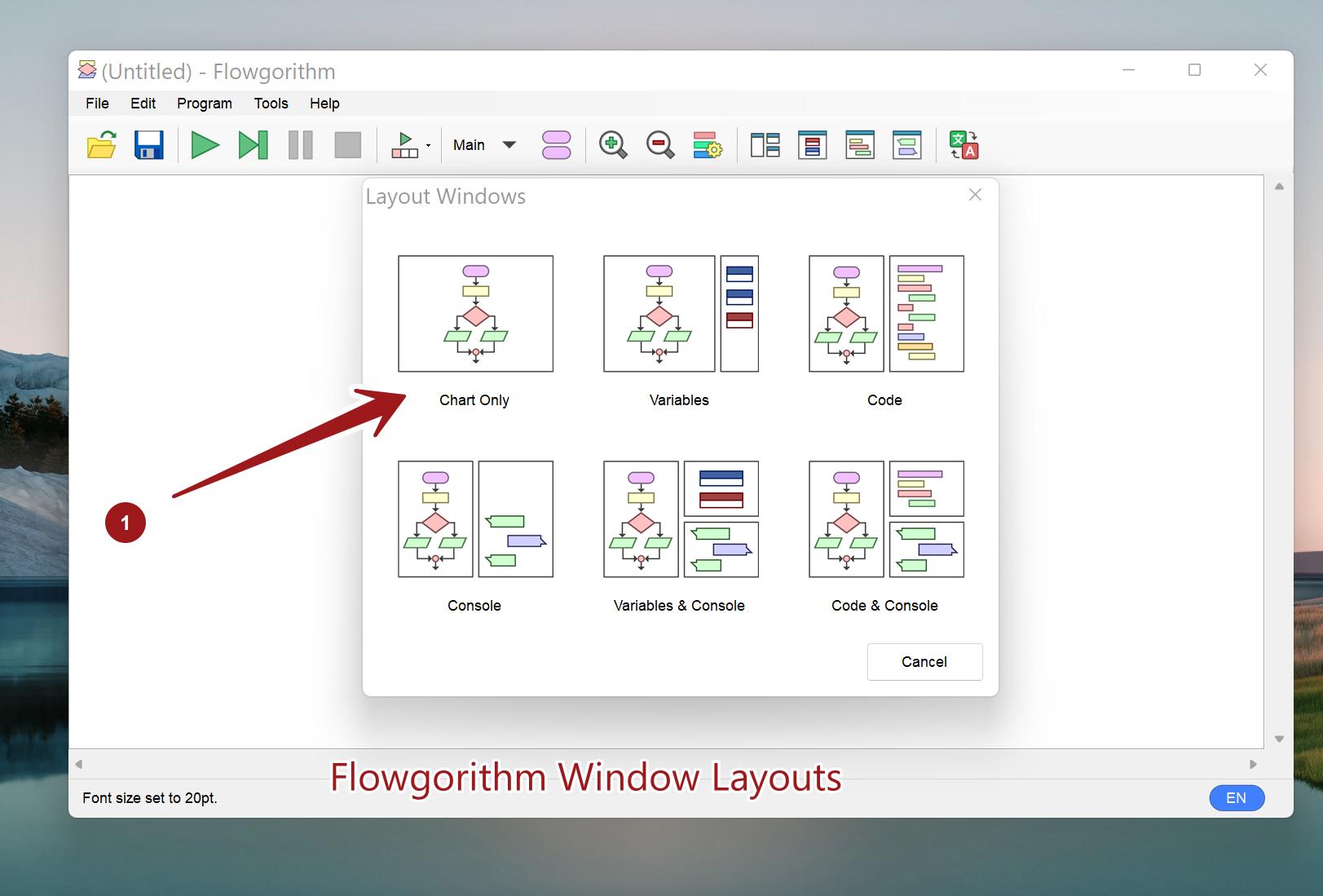 Flowgorithm Window Layouts