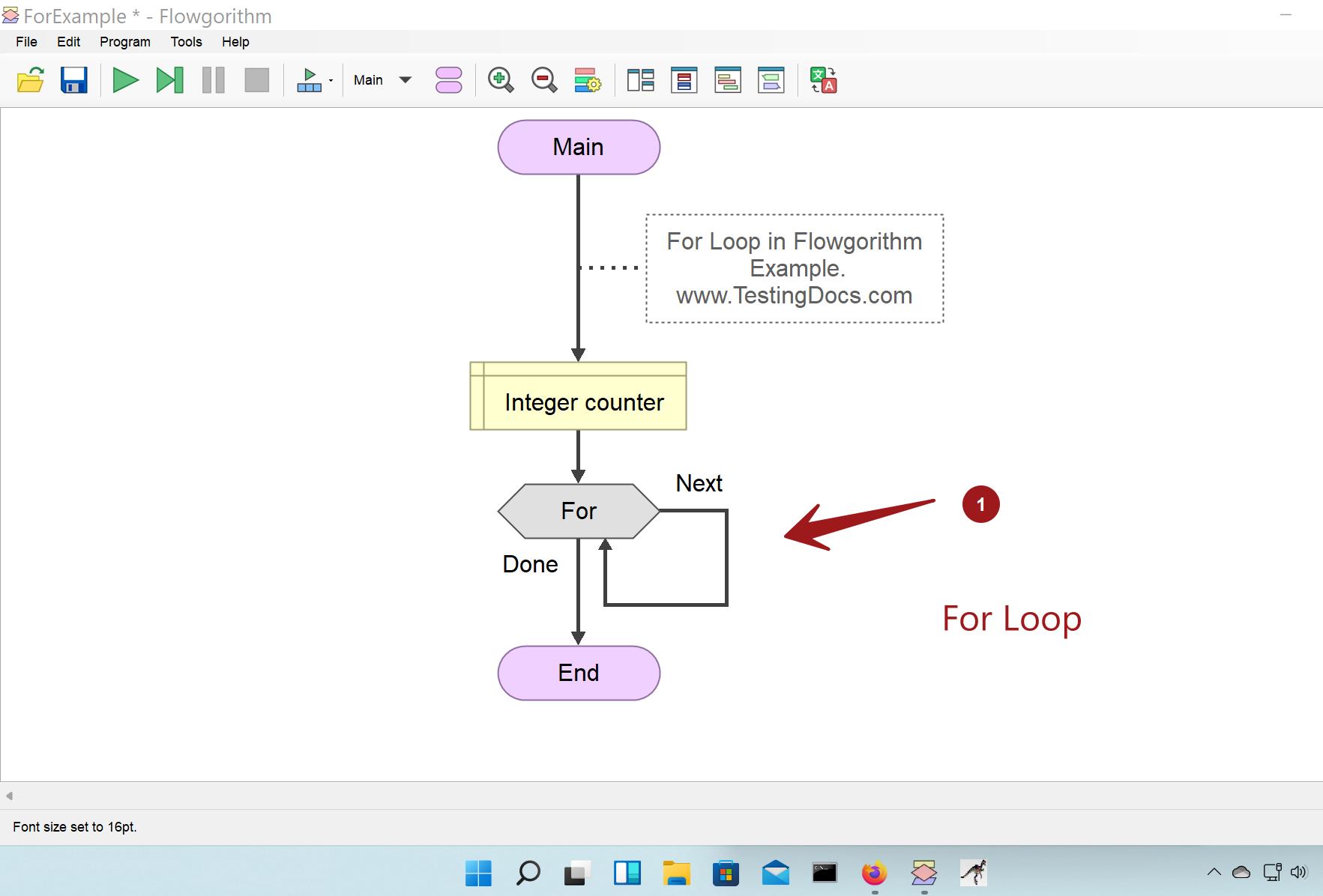 For Loop Flowgorithm