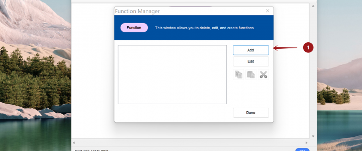 Function Manager