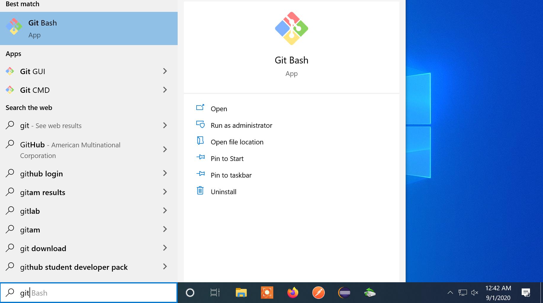 Git Bash App