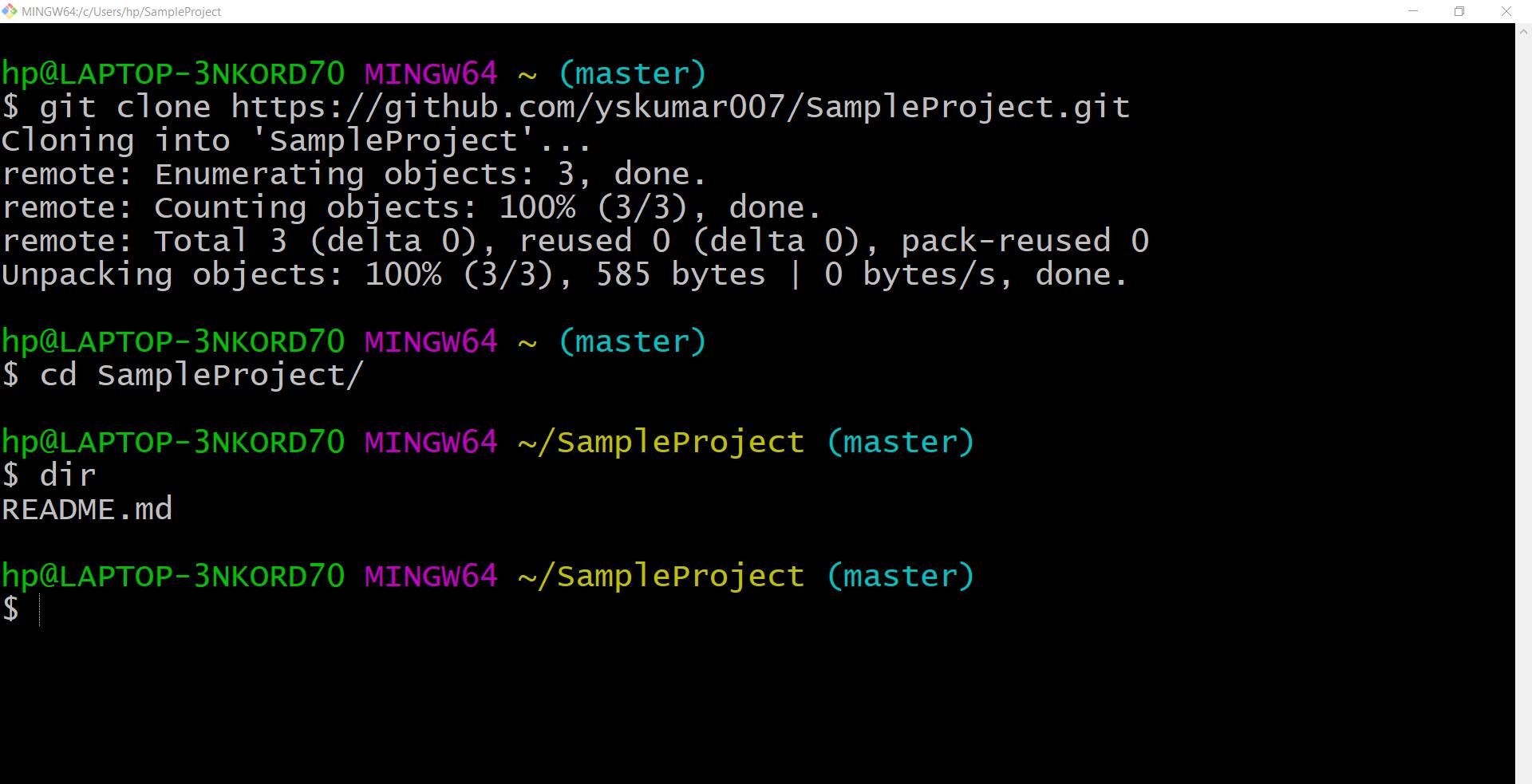 Git Project clone