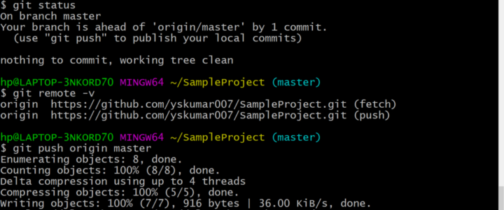 Git Push command