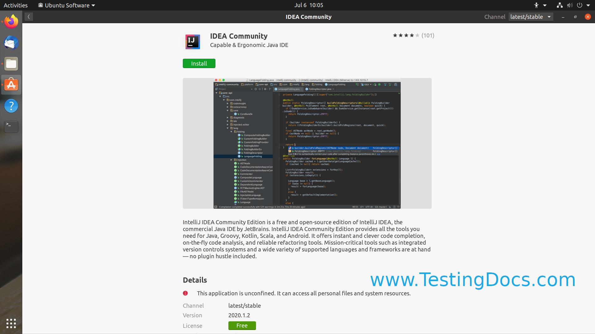 IDEA Community Install Linux