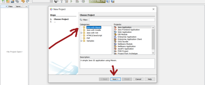 Java with Maven Project NetBeans