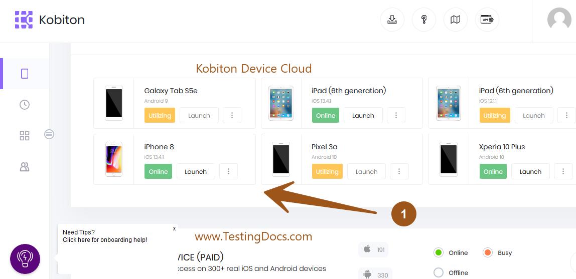 Kobiton Device Cloud