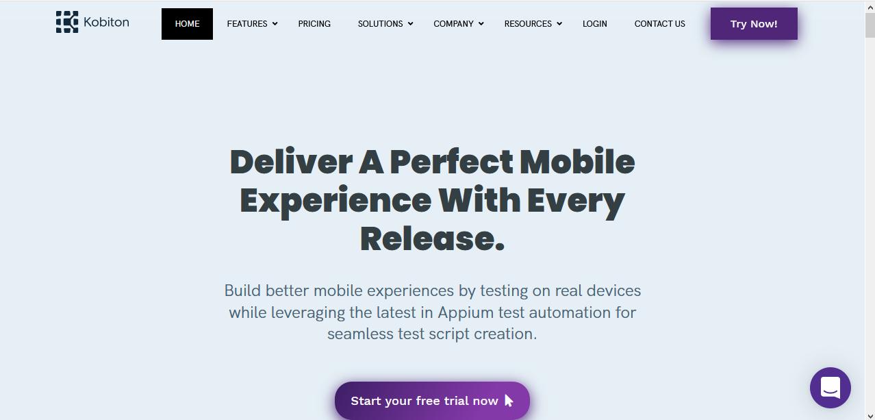 Kobiton Homepage
