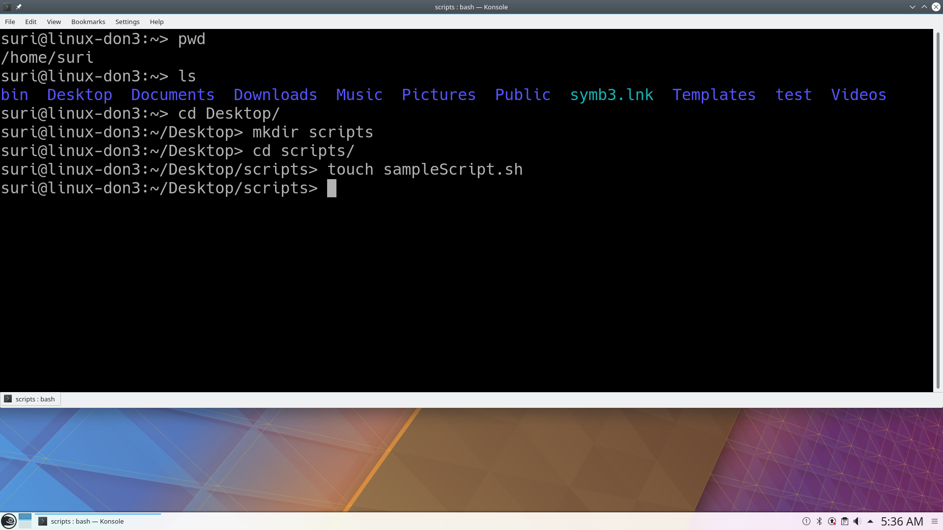 Shell Script to Display Name in Linux