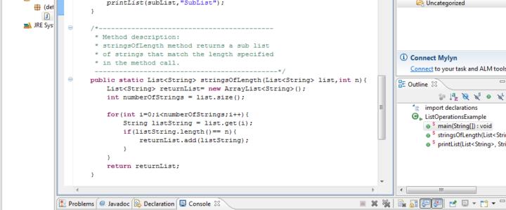 Java List Interface Example
