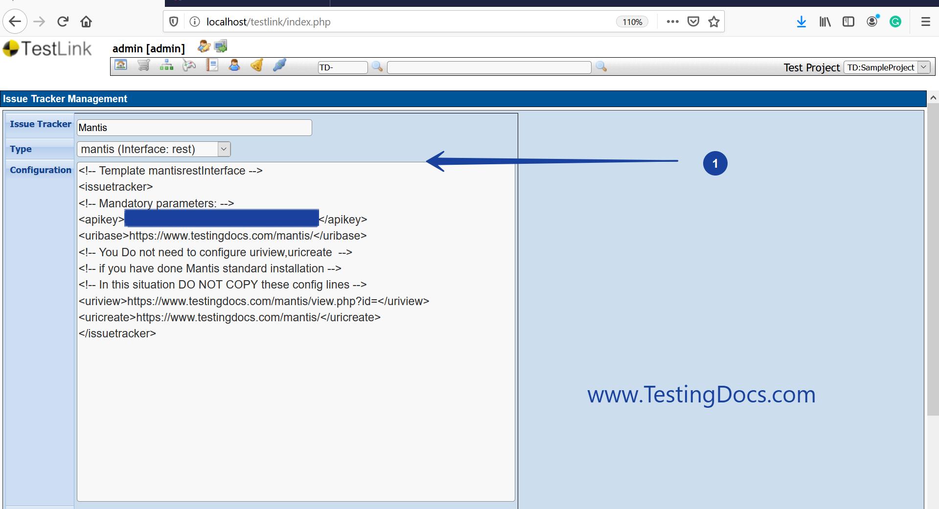 Mantis REST API Configuration