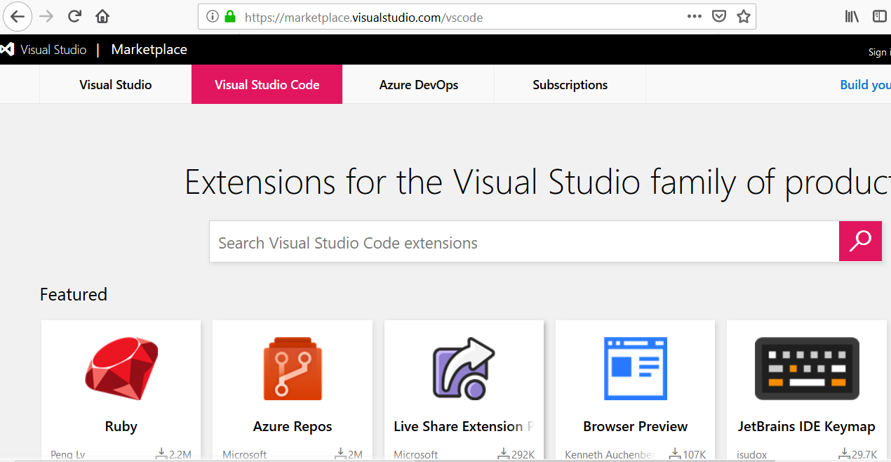 Install VSCode Plugins from Marketplace