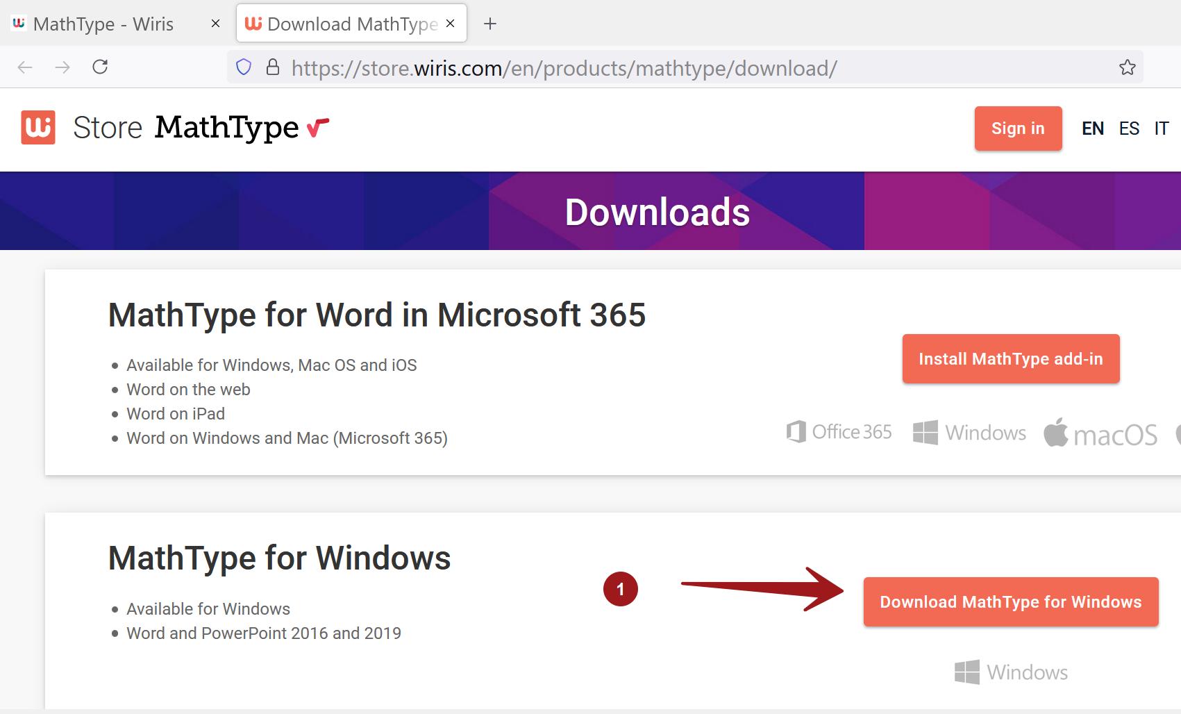 MathType for Windows