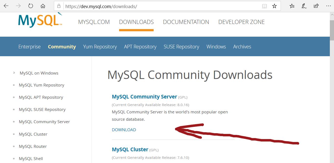 MySQL Community Edition Download
