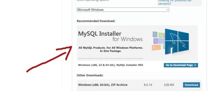 MySQL Insaller for Windows