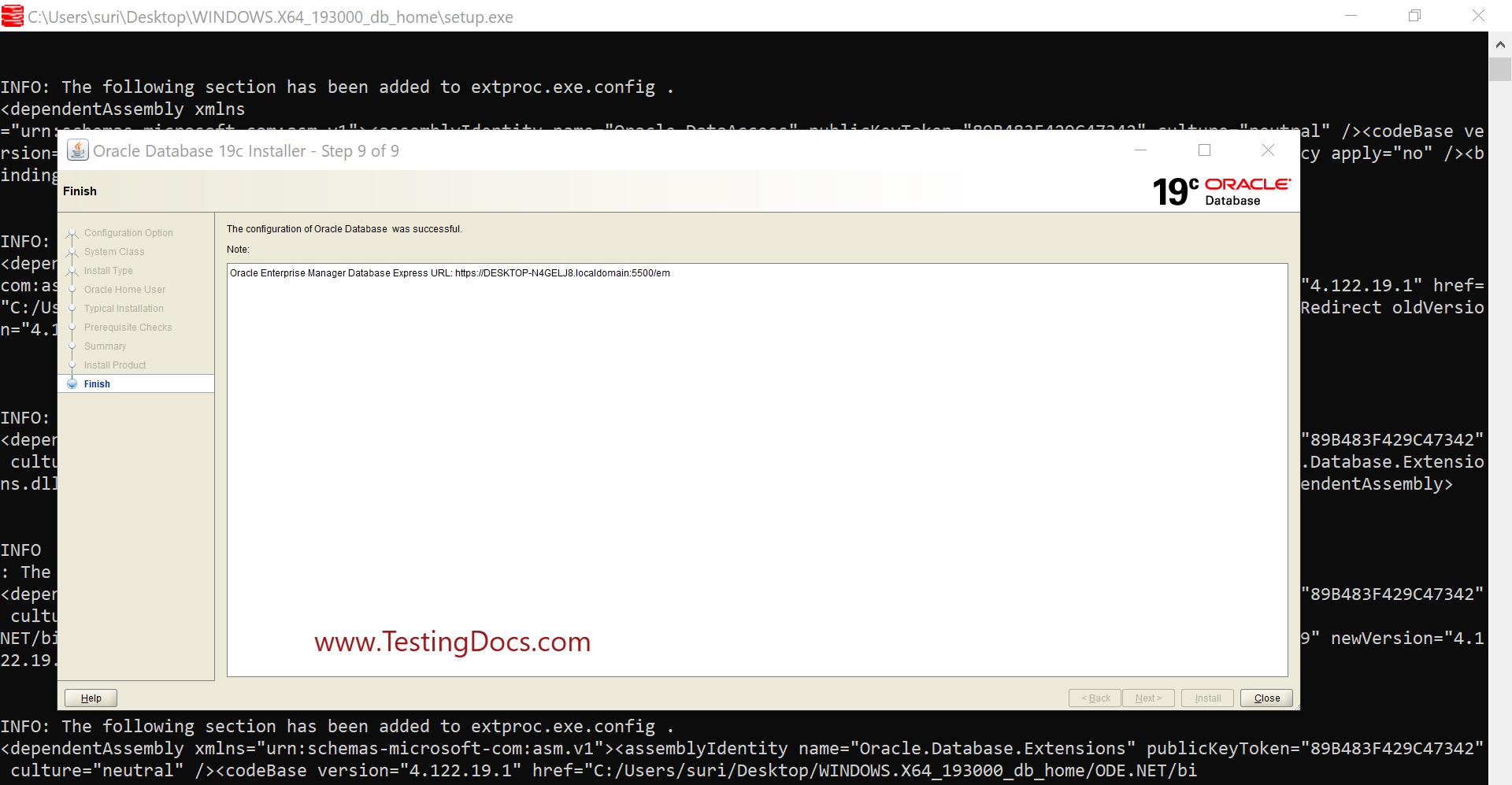 Install Oracle 19c Database