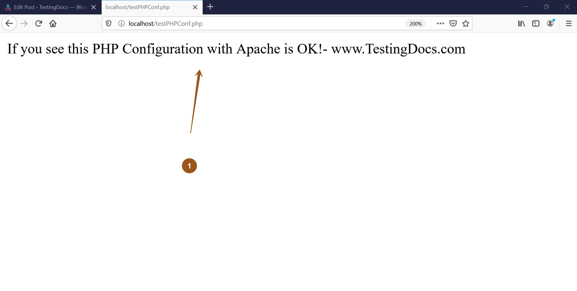PHP Testing Apache