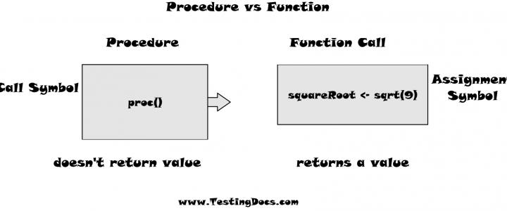 Procedure vs Function RAPTOR