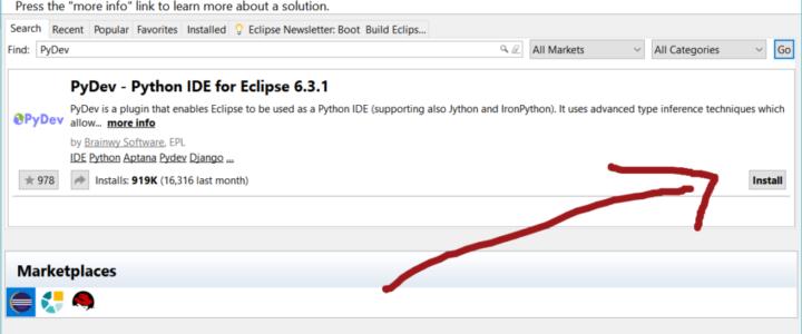 PyDev Eclipse Marketplace