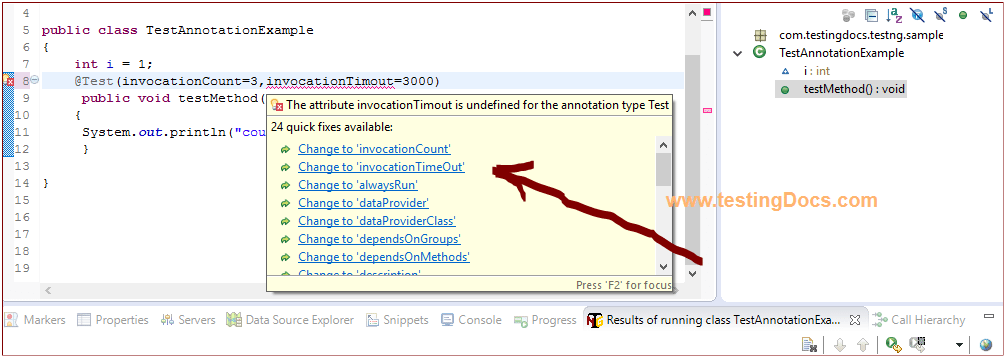 QuickFixSuggestion