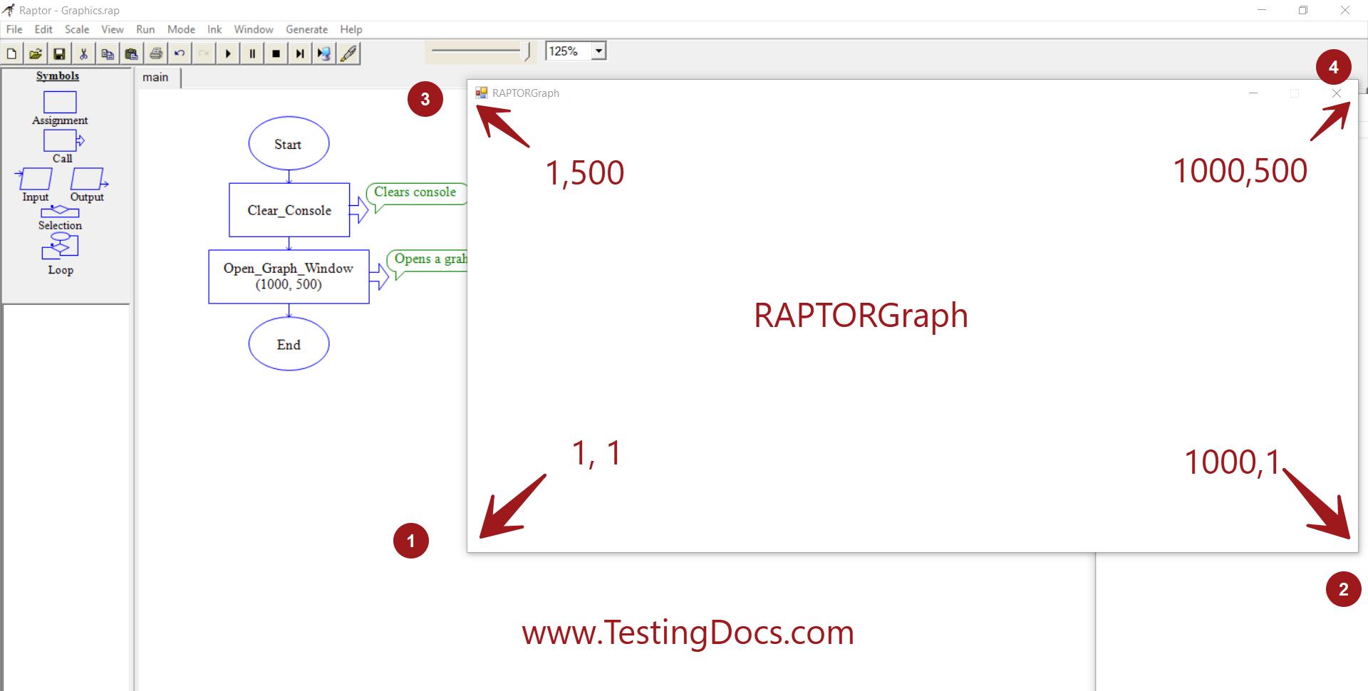 RaptorGraph Window Coordinates