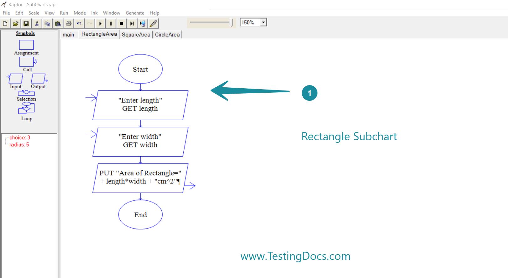 Rectangle Subchart