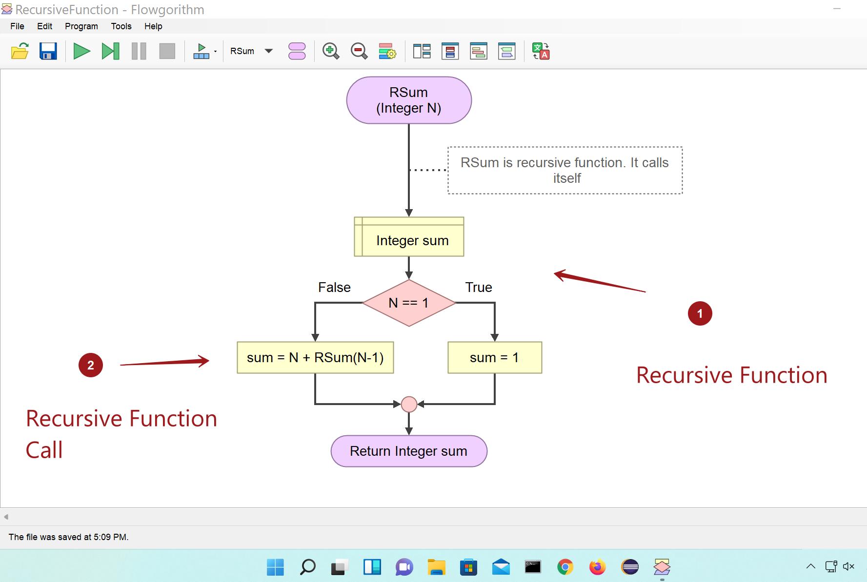 Recursive Function Call