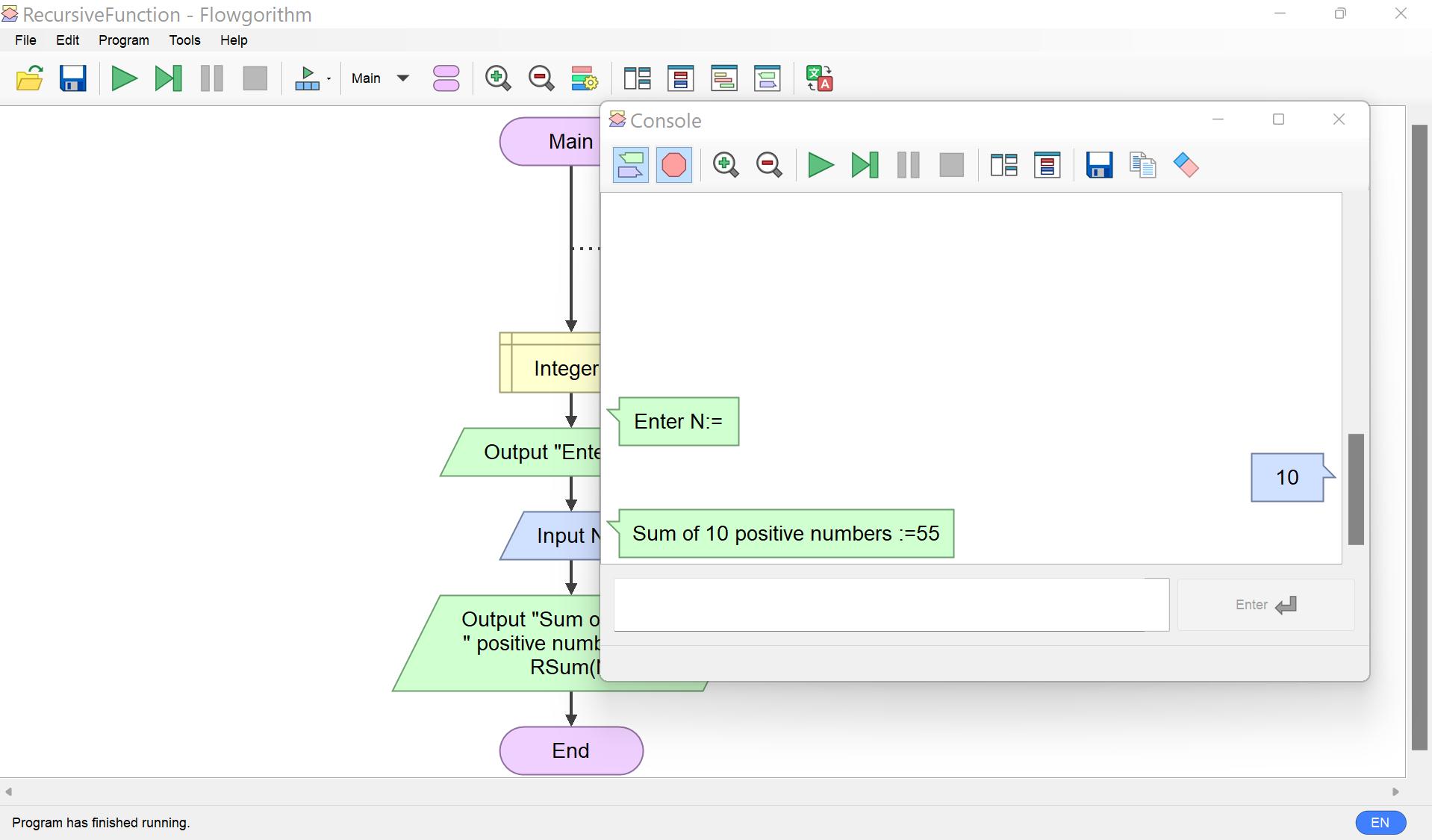 Recursive Function Output