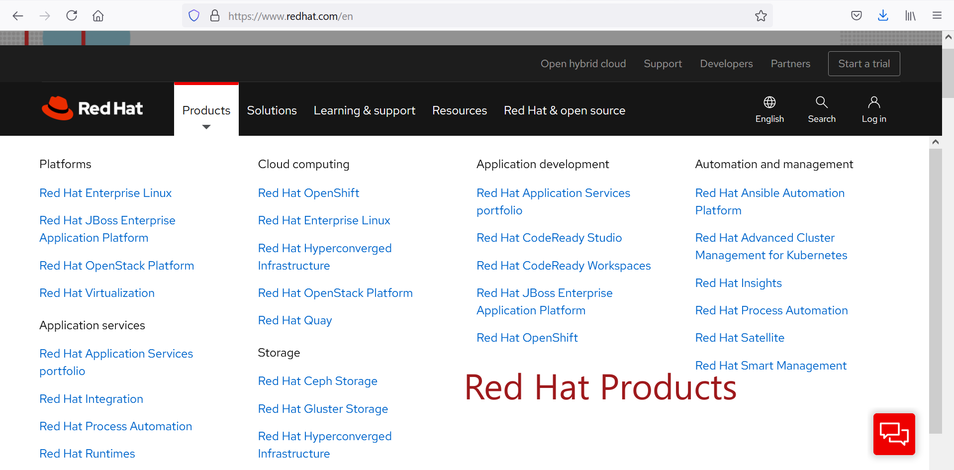 Red Hat Products
