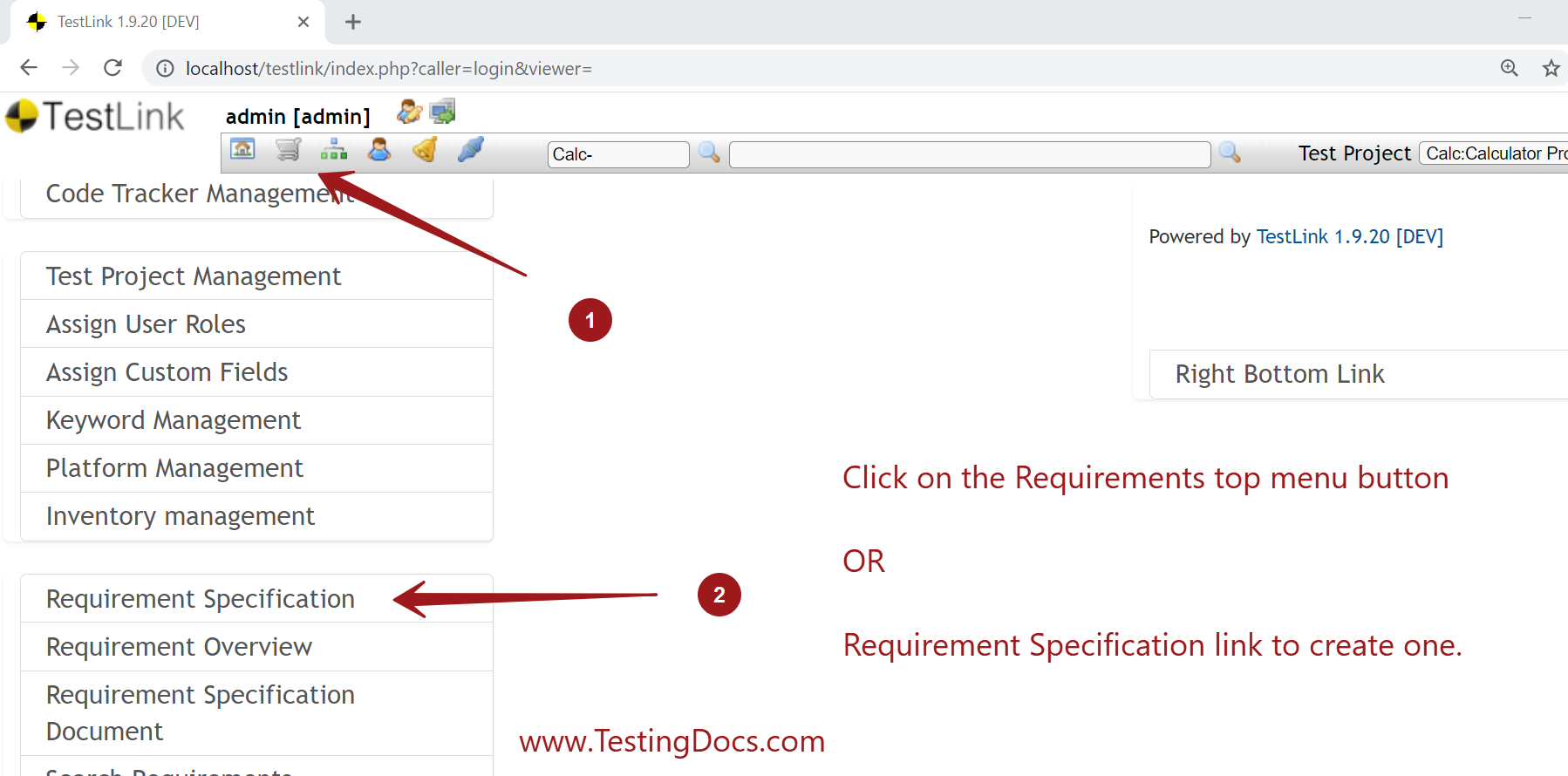 Requirement Specification