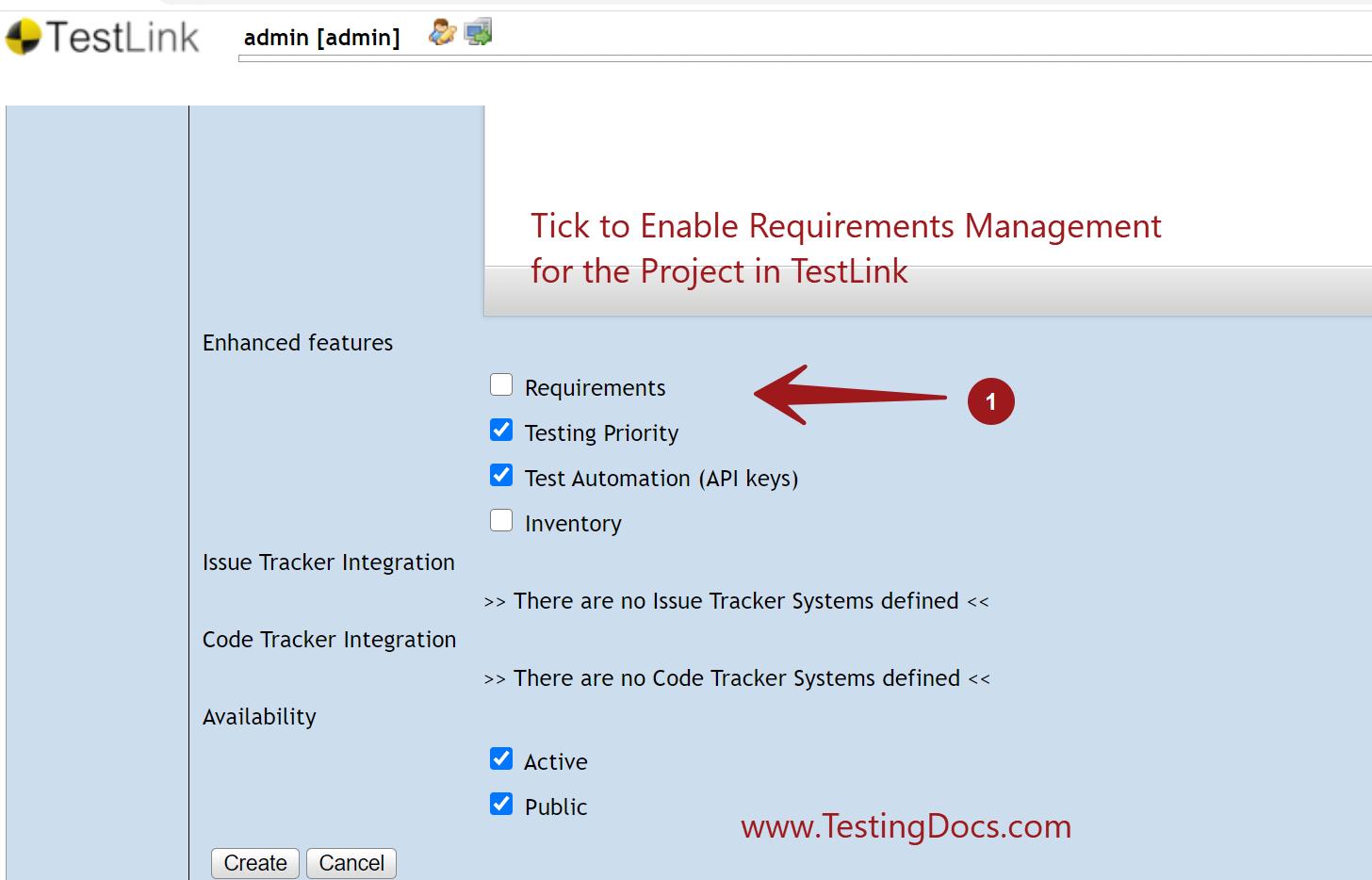 Requirements Module TestLink