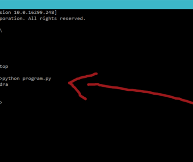 Running Python Script Command Prompt