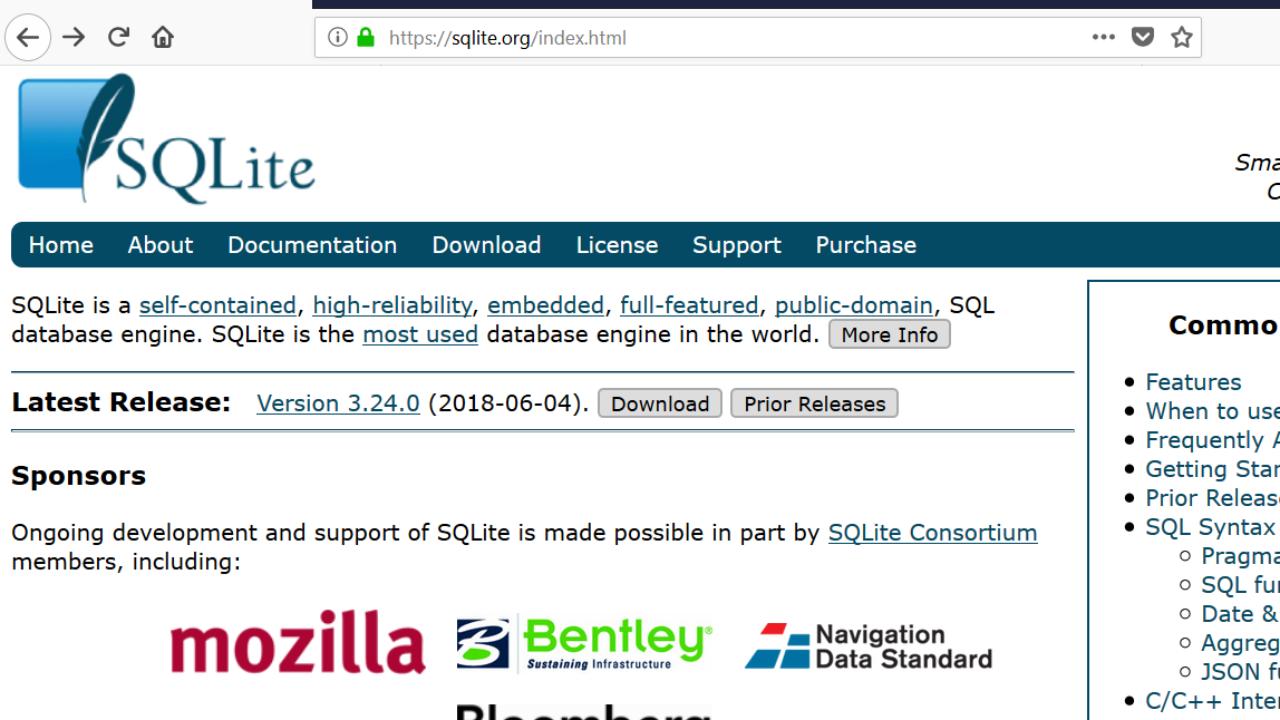 SQLite database introduction - TestingDocs com