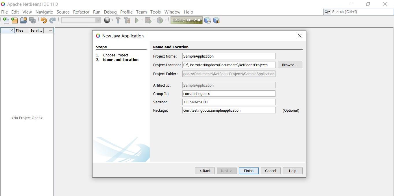 Creating a Maven project using NetBeans IDE | TestingDocs com