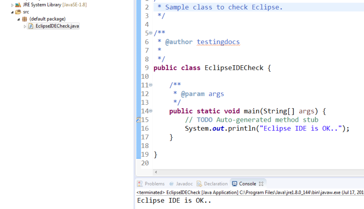 Sample_Eclipse_Check_program