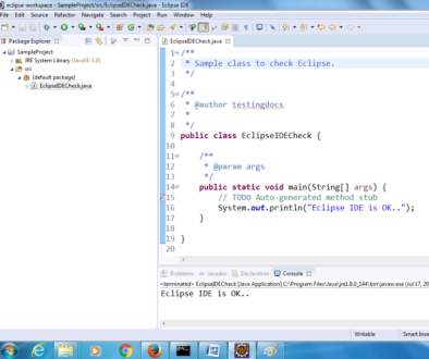Sample_Eclipse_Check_program