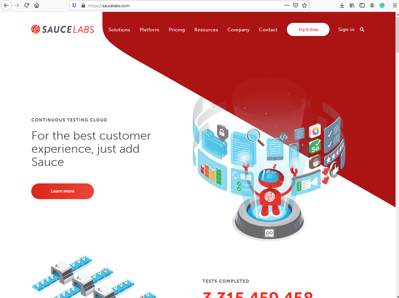 SauceLabs Cloud Testing Platform
