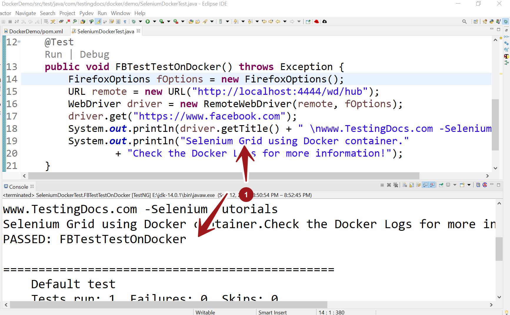 Selenium Grid on Docker Sample Test