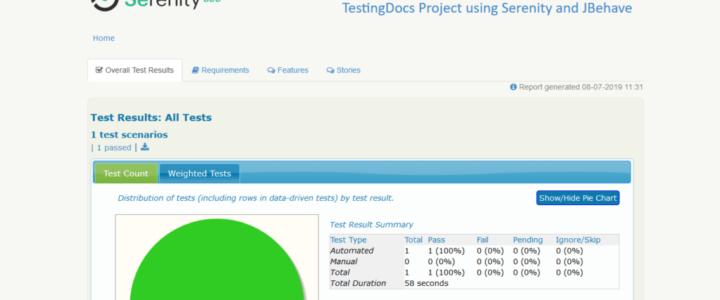 Serentiy BDD Test Report