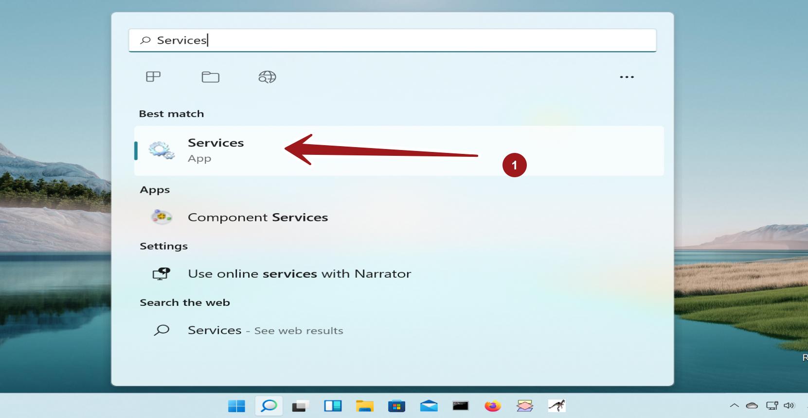 Services App Windows 11