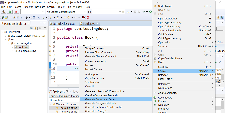 Code generation Eclipse